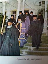 Moines Résistants du Monastère d'Esphigménou de l'Athos, toujours encerclé par la police étatique