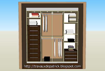 plan dressing chambre - google sketchup