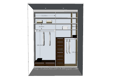 Dressing sur 2 rangees droite - google sketchup