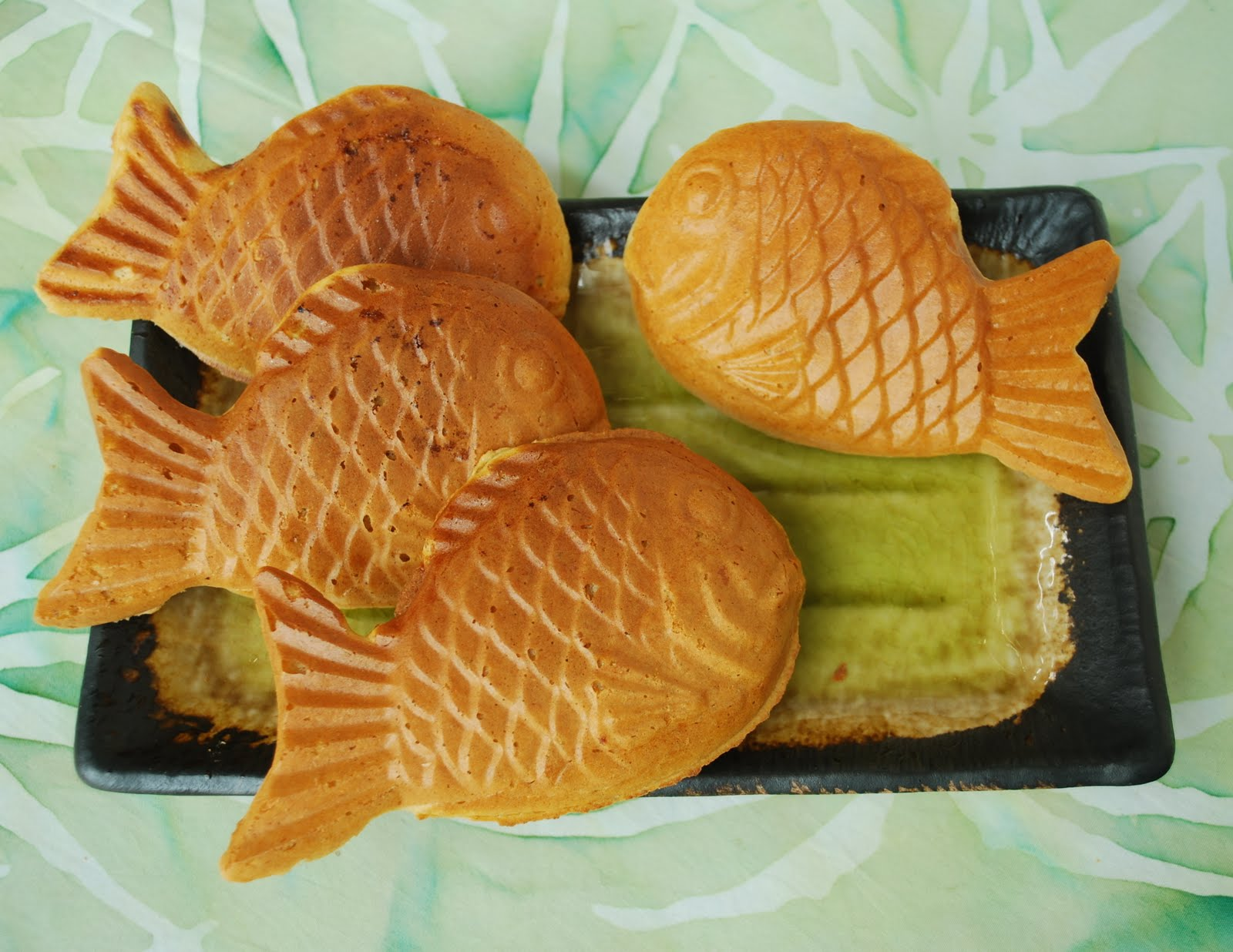 Happy little bento taiyaki for Fish shaped bread