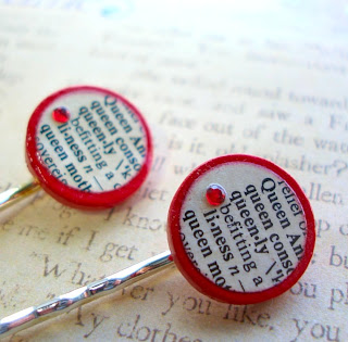 Vintage Dictionary Bobby Hair Pins - Queenly
