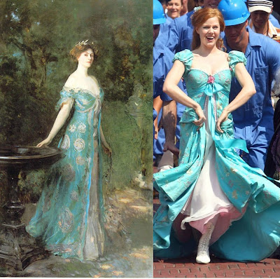 Enchanted Giselle's Blue and Rose Dress - Historical Inspiration