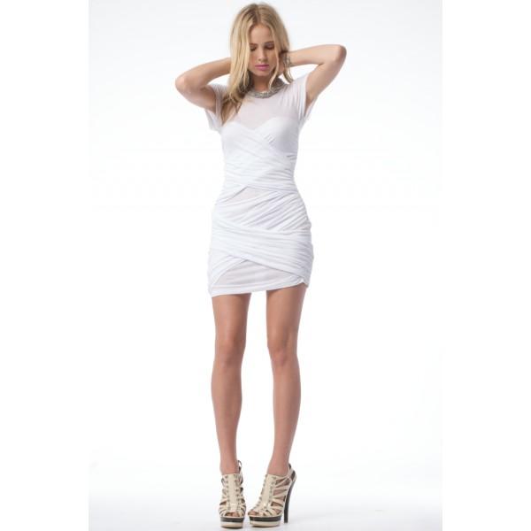 tight white t shirt dress