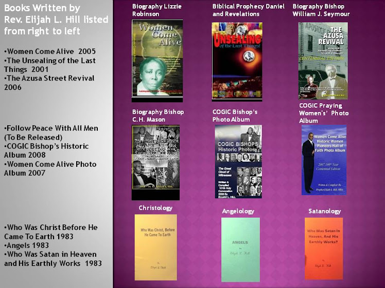 Books Authored by Rev. Elijah L. Hill