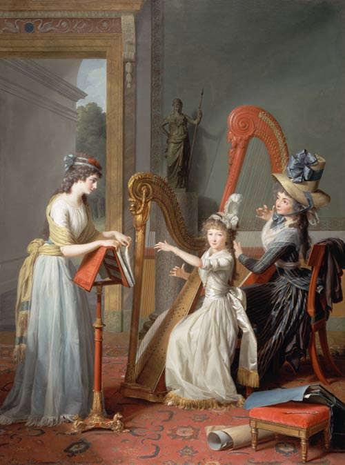 Royal Mistresses of France Harp_players