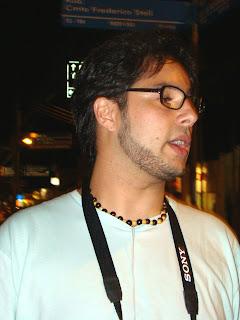 Pedro, o organizador, diz não ter tido muito tempo nos últimos dias. Foto: Gisele Pimpão