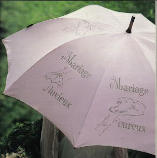appliquer la feuille lintrieur du parapluie pour voir les motifs par transparence et peindre avec un pinceau fin laisser scher - Parapluie Mariage Pluvieux Mariage Heureux