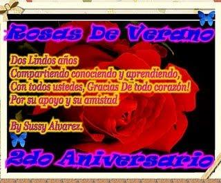2 aniversario Rosas de V