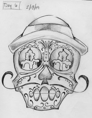skull tattoo drawings