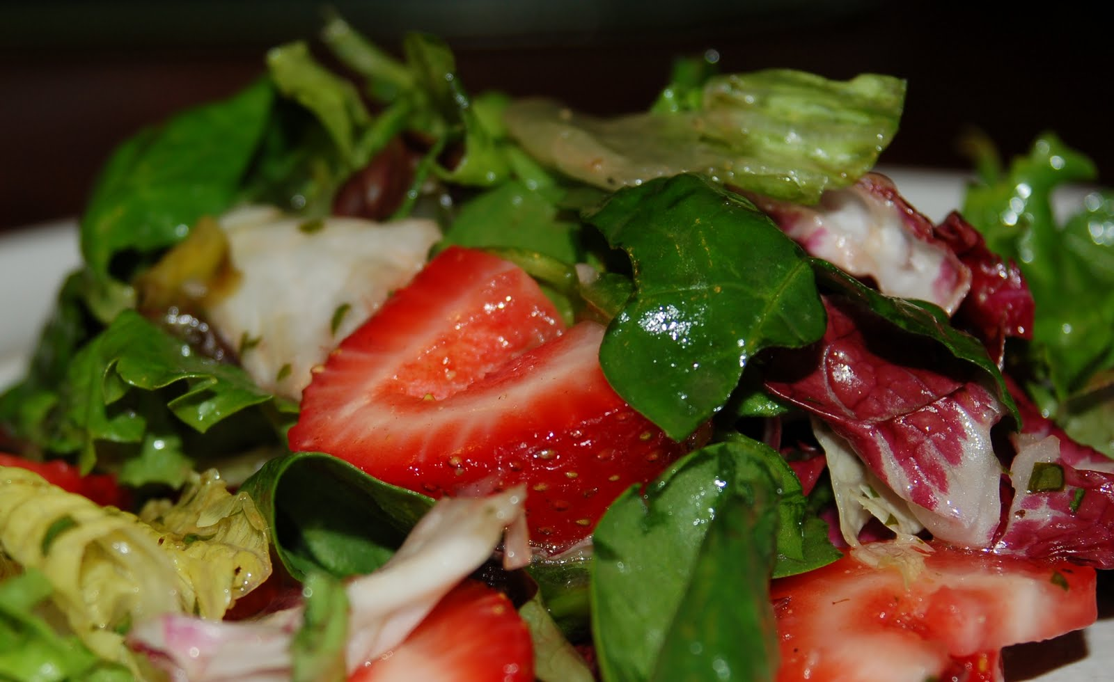 ... Meal: Green Salad with Strawberries & Cilantro-lime Vinaigrette