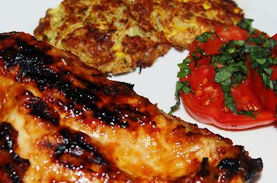 Garlic Peach Grilled Chicken
