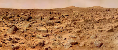 Mars Pathfinder - Twin Peaks (left view)