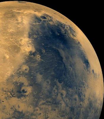 Mars wind blow