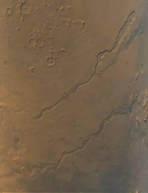 Dao Vallis - Niger Vallis - Harmakhis Vallis