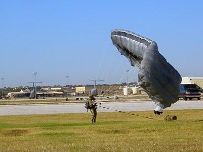 USAF CCT HALO Jump - Team Member Landing