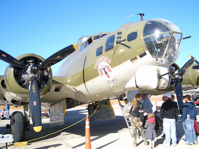 Lackland AFB Air Fest: B-17 Flying Fortress and Viewers