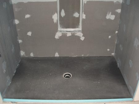 Building a house in kala point 2008 wedi board day 407 - Wedi fundo shower pan ...