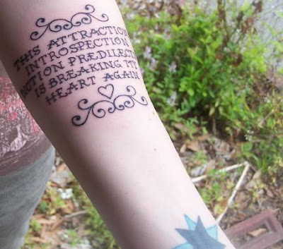 There are no real rules when it comes to emo tattoos. Emo Tattoo