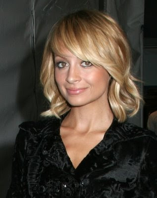 big forehead hairstyles. nicole richie short blond hairstyles for women