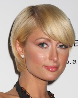 Paris Hilton and her Great Looking Angled Bob Haircut