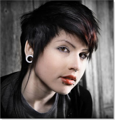 emo hairstyles for girls with medium. Stylish emo short haircuts