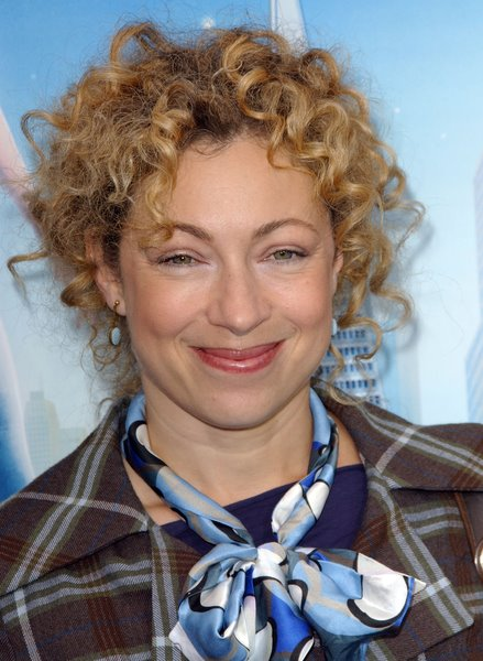 Alex Kingston natural hairstyle