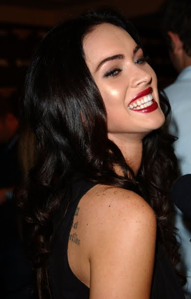 megan fox dark hair. Dark Brunette Long Wavy