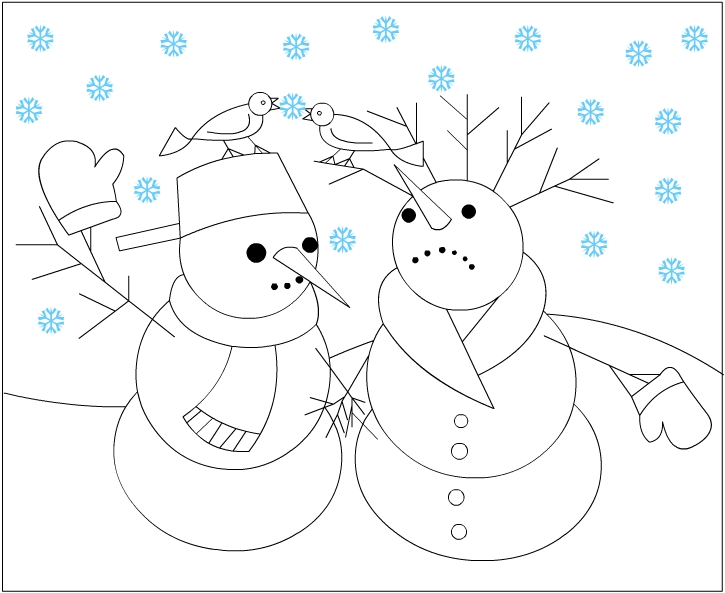 Nicole 39 s free coloring pages winter coloring pages for Free coloring pages snowman