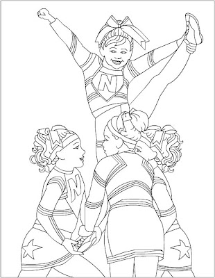 Nicole\'s Free Coloring Pages: Cheerleading Coloring pages