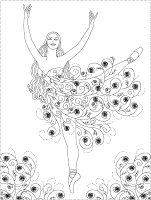 ballet coloring pages for adults - photo#30