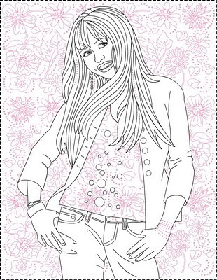 Nicoles Free Coloring Pages Hannah Montana Coloring
