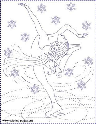Nicole 39 s free coloring pages ice skating ice princess for Ice skating coloring pages