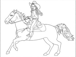 Free Cowboy Cowgirl Coloring Pages