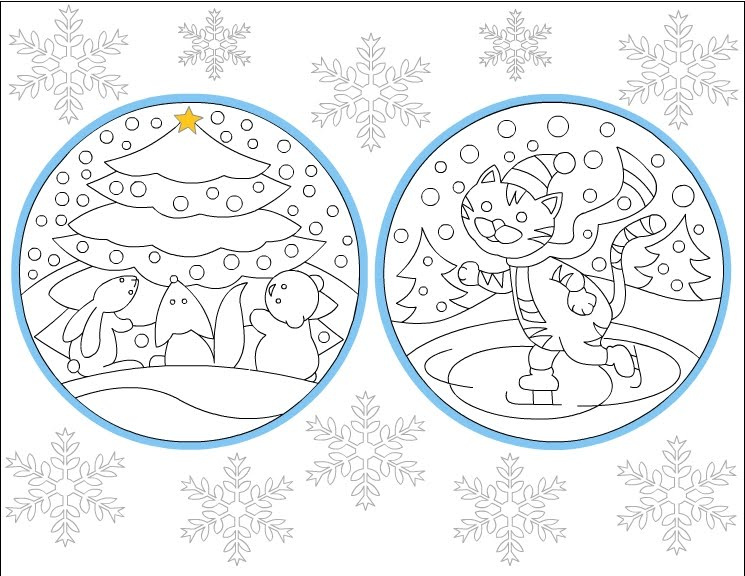 Nicole 39 s Free Coloring Pages Winter