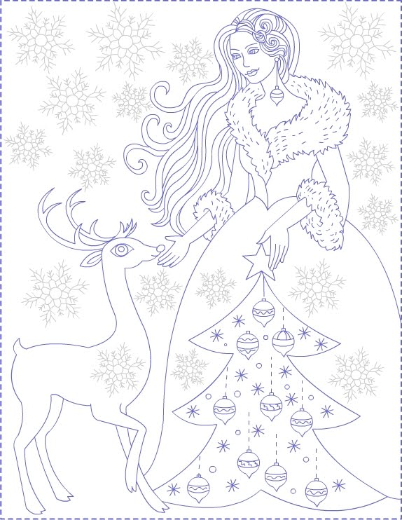 Winter Princess - coloring