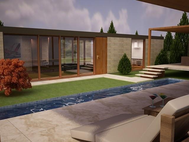 Proyectos arquitectura casa en el campo una sola planta for Casa de campo arquitectura