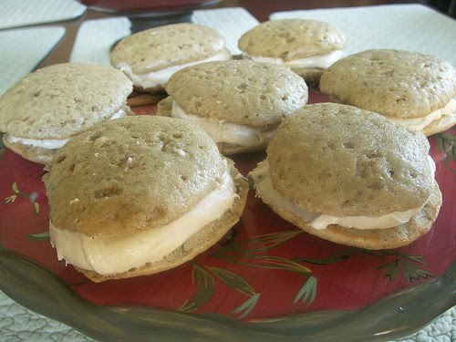 The Alchemist: Banana Whoopie Pies with Maple Cream Cheese Filling