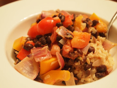 The Alchemist: Caribbean Coconut Black Beans and Vegetables Over Rice