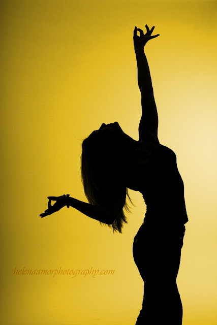 youga photography: silhouette of a yoga pose
