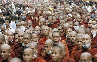 Burmese Monks Protest