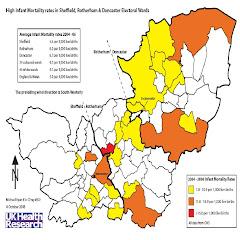 SHEFFIELD- Infant mortality /Incinerator location 2004-2006