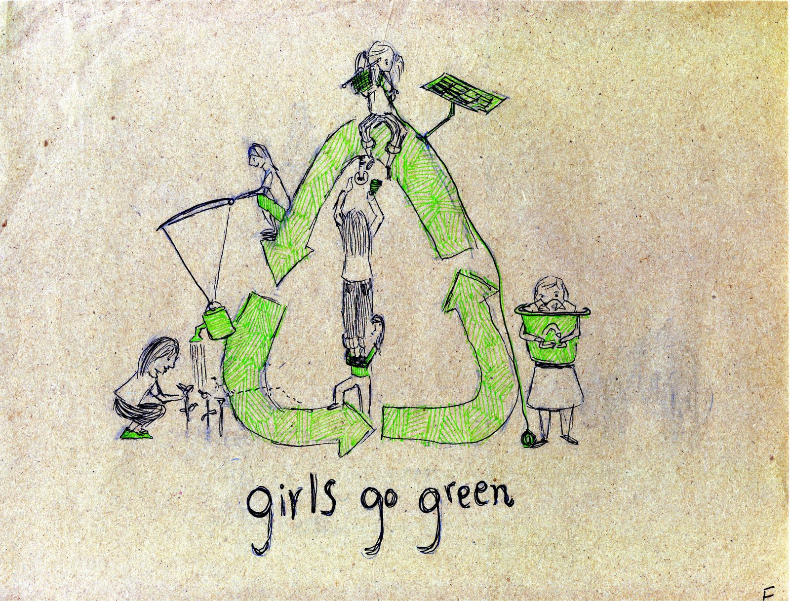 girls go green