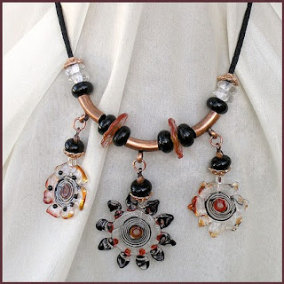 handcrafted lampwork necklace