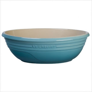 caribbean blue serving bowl, stoneware kitchen serving dishes