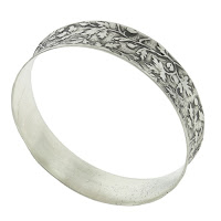 Silver bangle bracelets