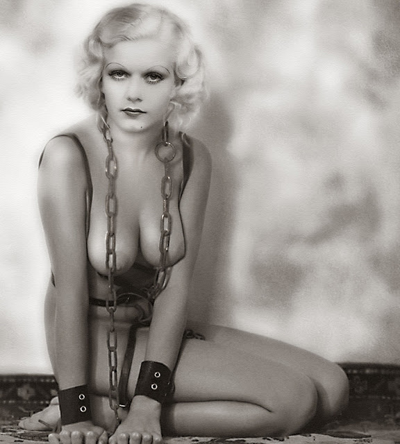 Jean Harlow nude bondage naked photo
