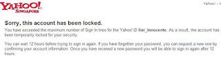 yahoo locked
