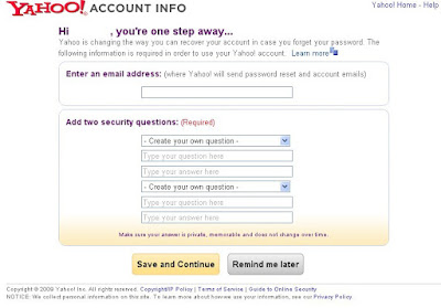 yahoo account info trick