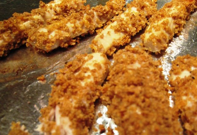 Crunchy oven baked fish sticks eat little eat big for Oven baked fish