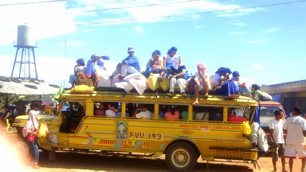Overloaded jeepney in Guimaras